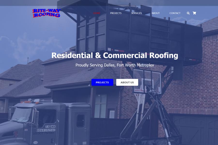 <span>Graphic Design, Social Media Management, Website</span>Roofing Website