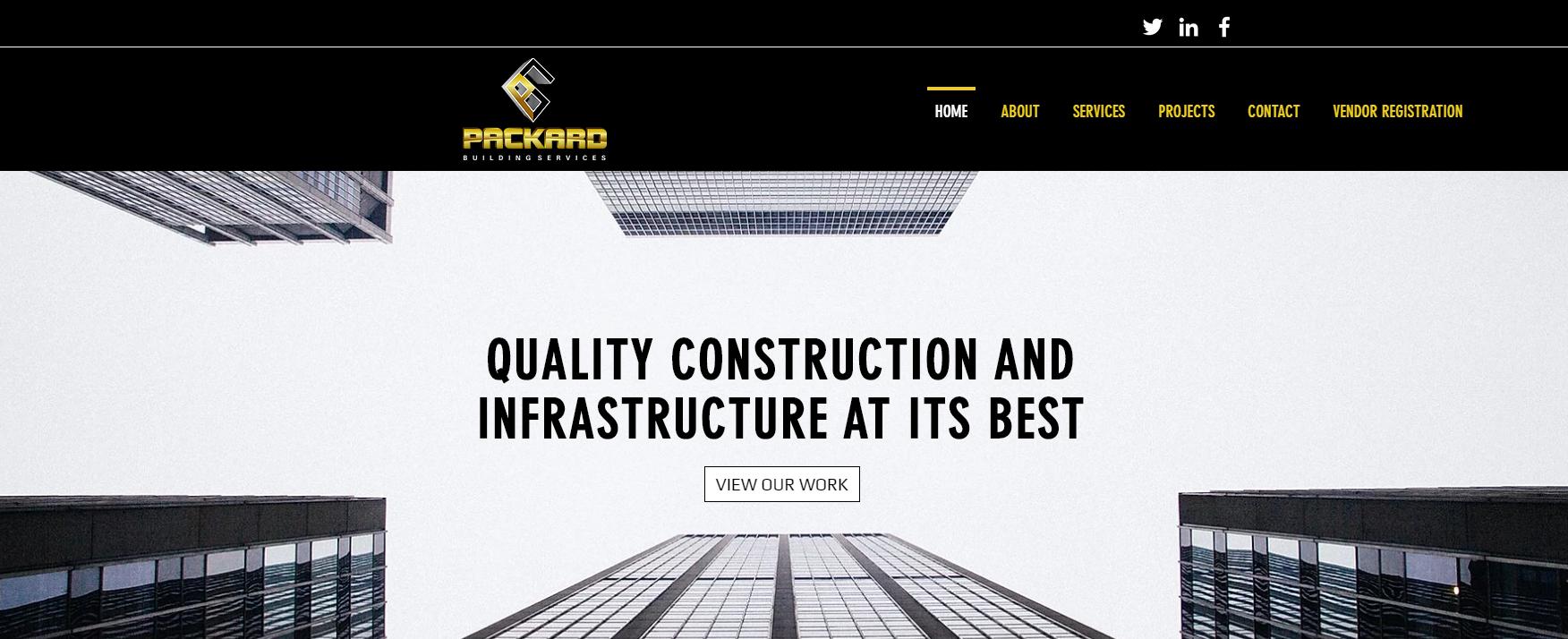 <span></span>Packard Building Services Website Update