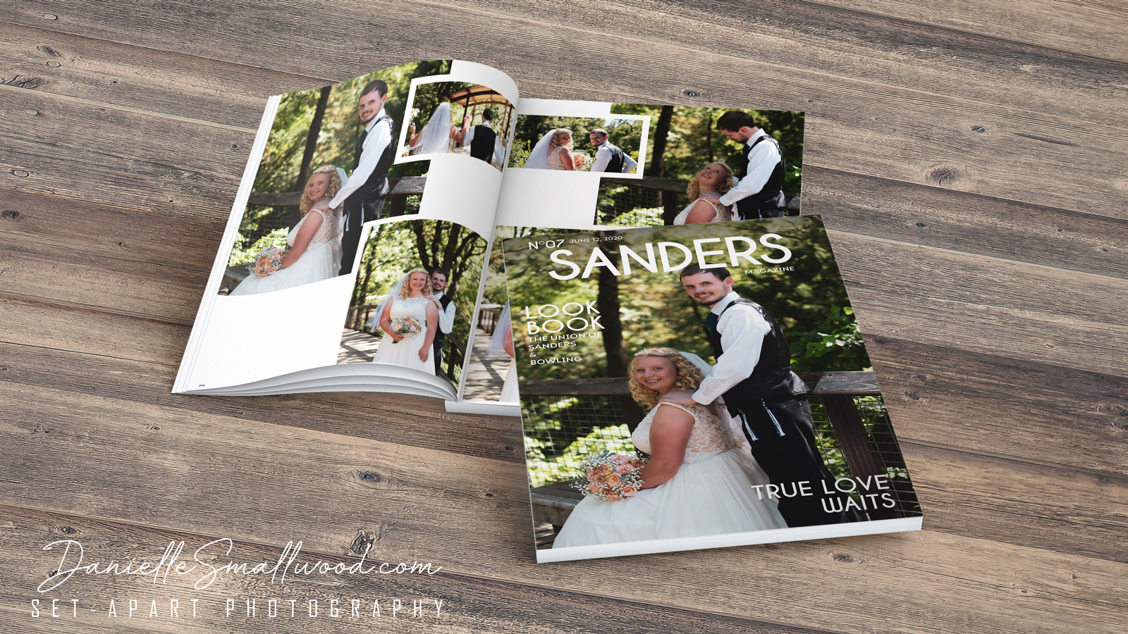 <span>Graphic Design, Headshot, Marketing Design, Outdoor Photography, Photography</span>Wedding Magazine Design